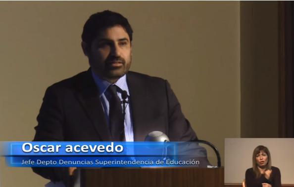 Oscar Acevedo, Unidad de Departamento y Denuncias de la Superintendencia de Educación Escolar